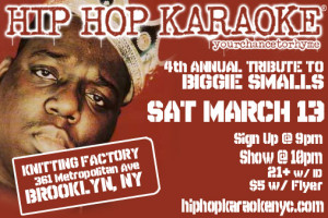 Hip-Hop Karaoke In Honor of Biggie This Saturday in BK