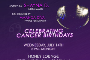 The Diva Lounge Presents A Cancerian Birthday Bash (Wish Me A Happy Belated)