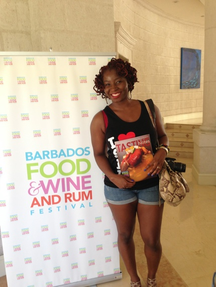 Barbados Food Wine and Rum Festival at a Cookign Demo