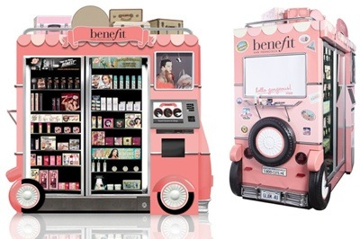 Benefit Cosmetics Airport Kiosks