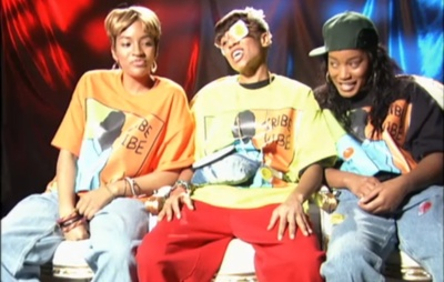 Drew Sidora, Lil Mama and Keke Palmer as T Boz, Left Eye and Chilli
