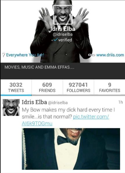 Idris Elba Dick #IdrisElbasDickProbablyFeelLike