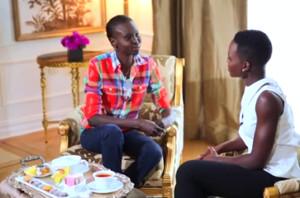 Lupita Nyong'o Meets Her Inspiration, Alek Wek