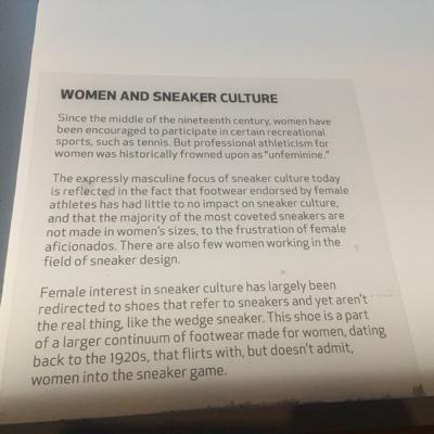 About women In sneaker culture.
