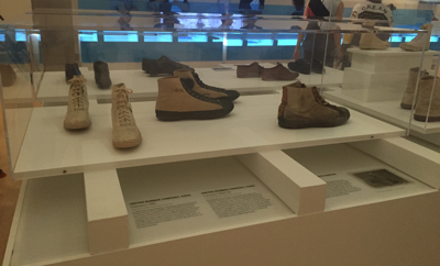 Early Converse and Keds on display.